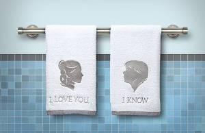 Leia and Han towels
